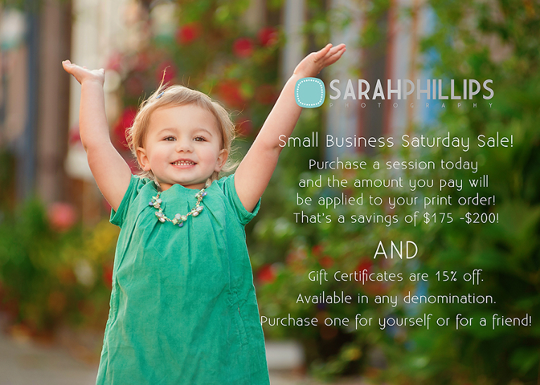 Small Business Saturday Photography Sale